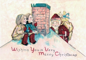 Christmas card commission by Elizabeth D'Angelo